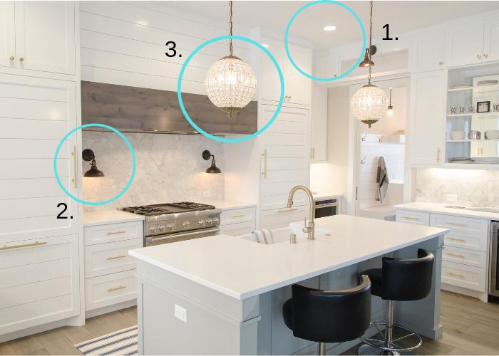Modern Kitchen Lighting Areas