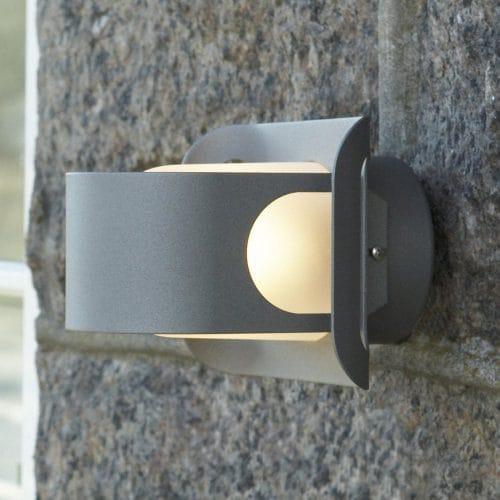 BELID Gekko IP23 E27 Exterior Wall Light in Graphite