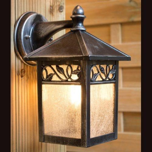 ELSTEAD LIGHTING Winchcombe Outdoor IP44 Wall Lantern in Black/Silver