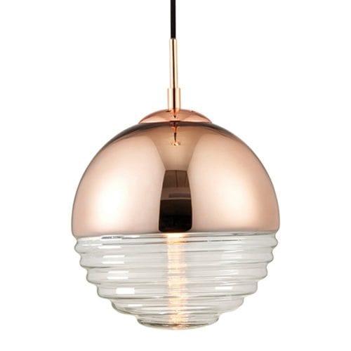 Endon Lighting Glass Pendant Light