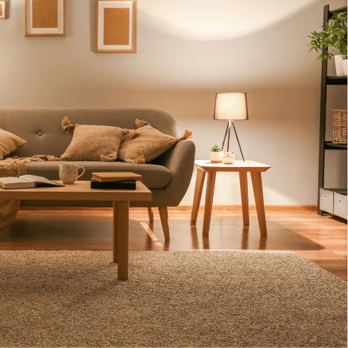 Warm interior lighting