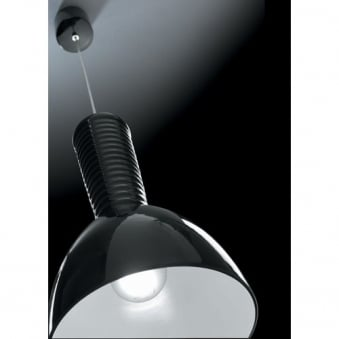 Kone Single Black Pendant