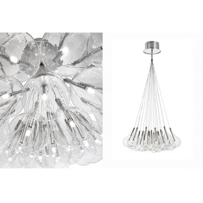 Alma The Nineteen Drop Pendant Light with Glass Tear Drop Shades
