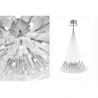 The Nineteen Drop Pendant Light with Glass Tear Drop Shades