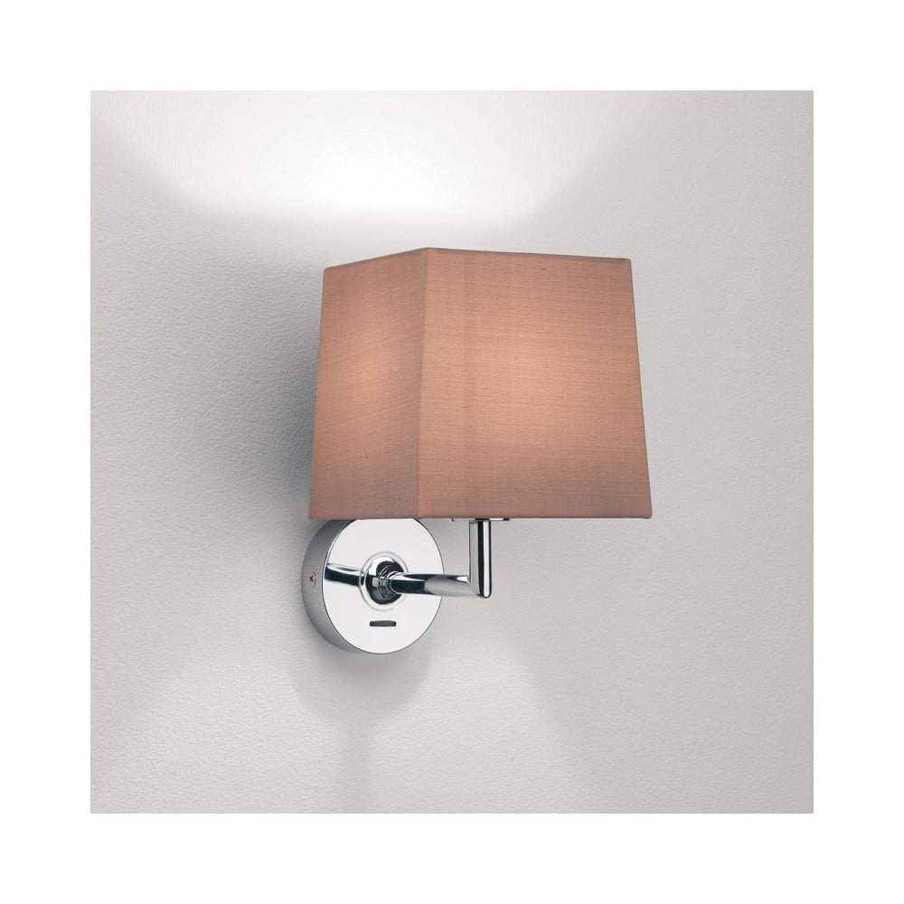 Self Switched Wall Lights : Astro Appa Solo Switched Wall Light in Chrome - Fitting Type from Dusk Lighting UK