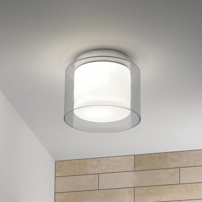 Astro Arezzo IP44 Glass Bathroom Ceiling Light