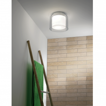 Arezzo IP44 Glass Bathroom Ceiling Light