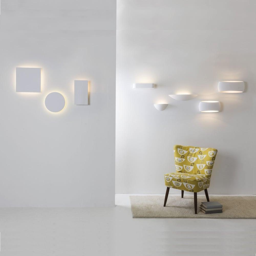 Astro lighting 7107 aria 370 white plaster wall light aria 370 white plaster wall light aloadofball Images