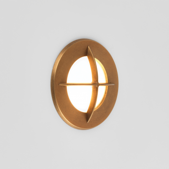 Arran Round Coastal Exterior Recessed Wall Light