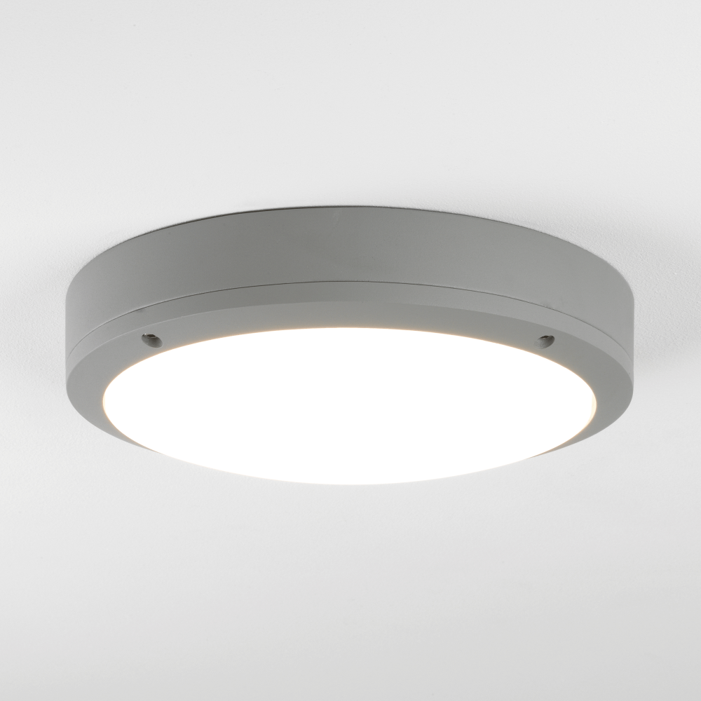 Astro lighting 7902 arta led round exterior light in silver for Round exterior lights