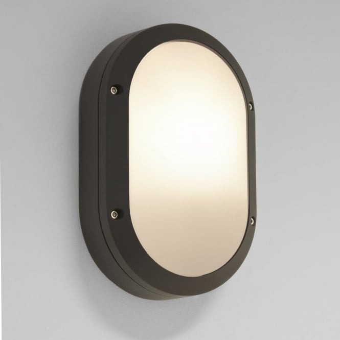 Astro Arta Oval Exterior IP54 Wall Light in Black