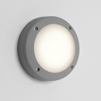 Arta Round 150 Exterior Light in Silver