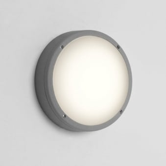 Arta Round 275 Exterior Light in Silver