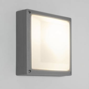 Arta Square 210 Exterior Wall Light in Silver