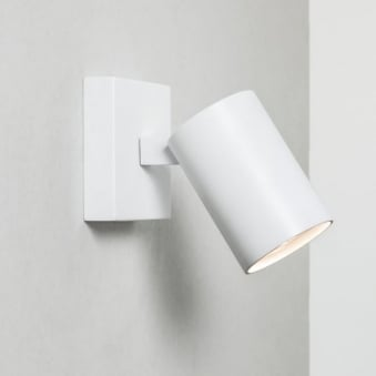 Ascoli Single Adjustable Spotlight Wall Light in White