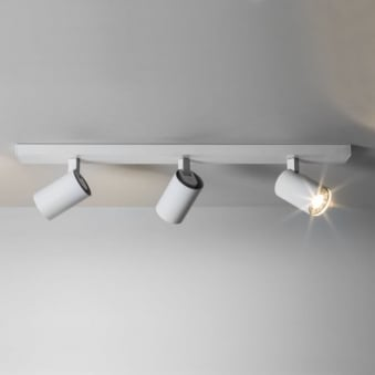 Ascoli Triple Bar GU10 Adjustable Spotlight in White