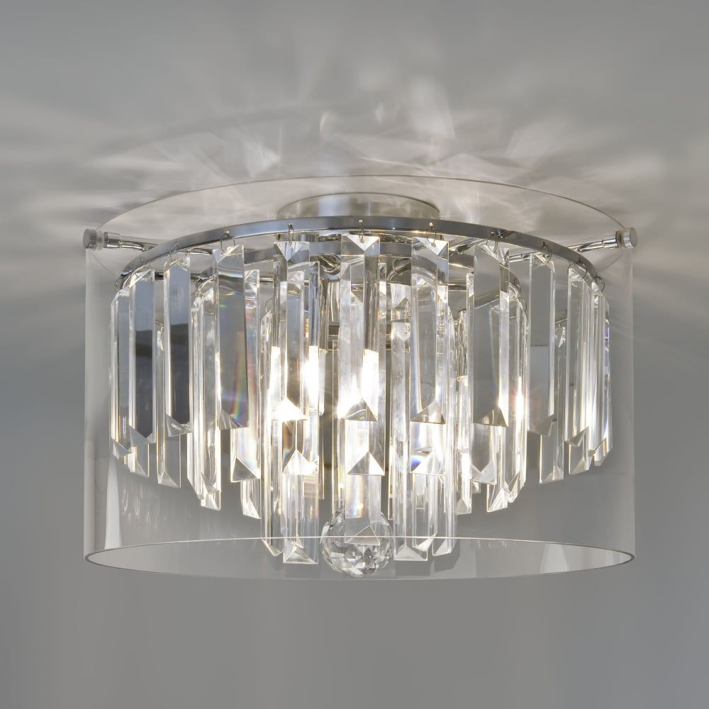 Asini IP44 Bathroom Crystal Glass Ceiling Light