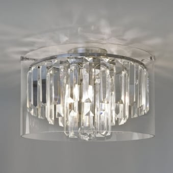 Asini IP44 Bathroom Crystal Glass Ceiling Light