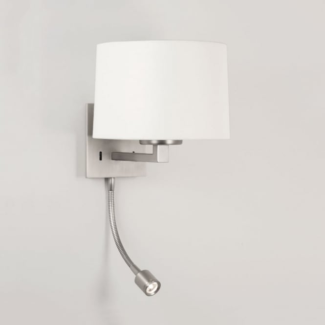 Astro Azumi LED Classic Switched Wall Light in Matt Nickel
