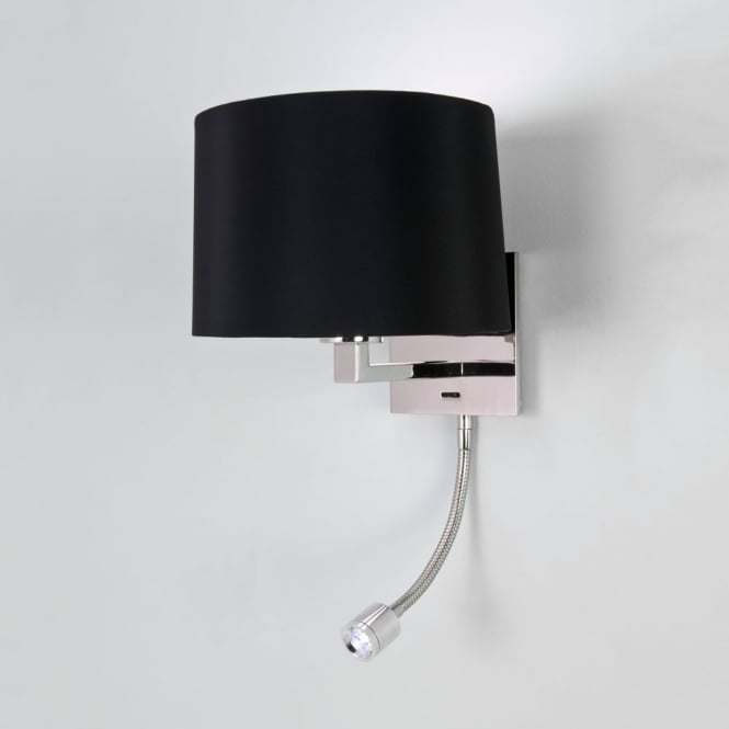 Astro Azumi LED Classic Switched Wall Light in Polished Nickel