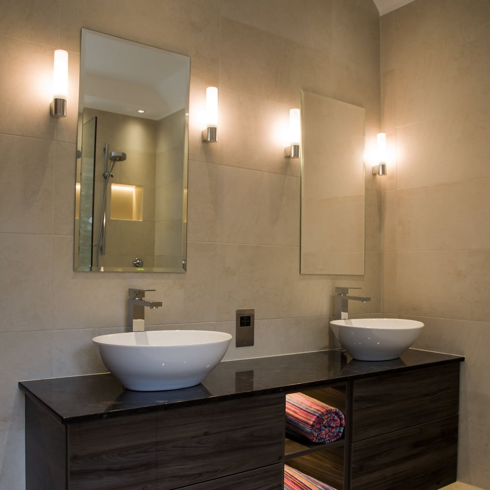 Astro Lighting 8037 Bari IP44 Bathroom Wall Light In Matt Black