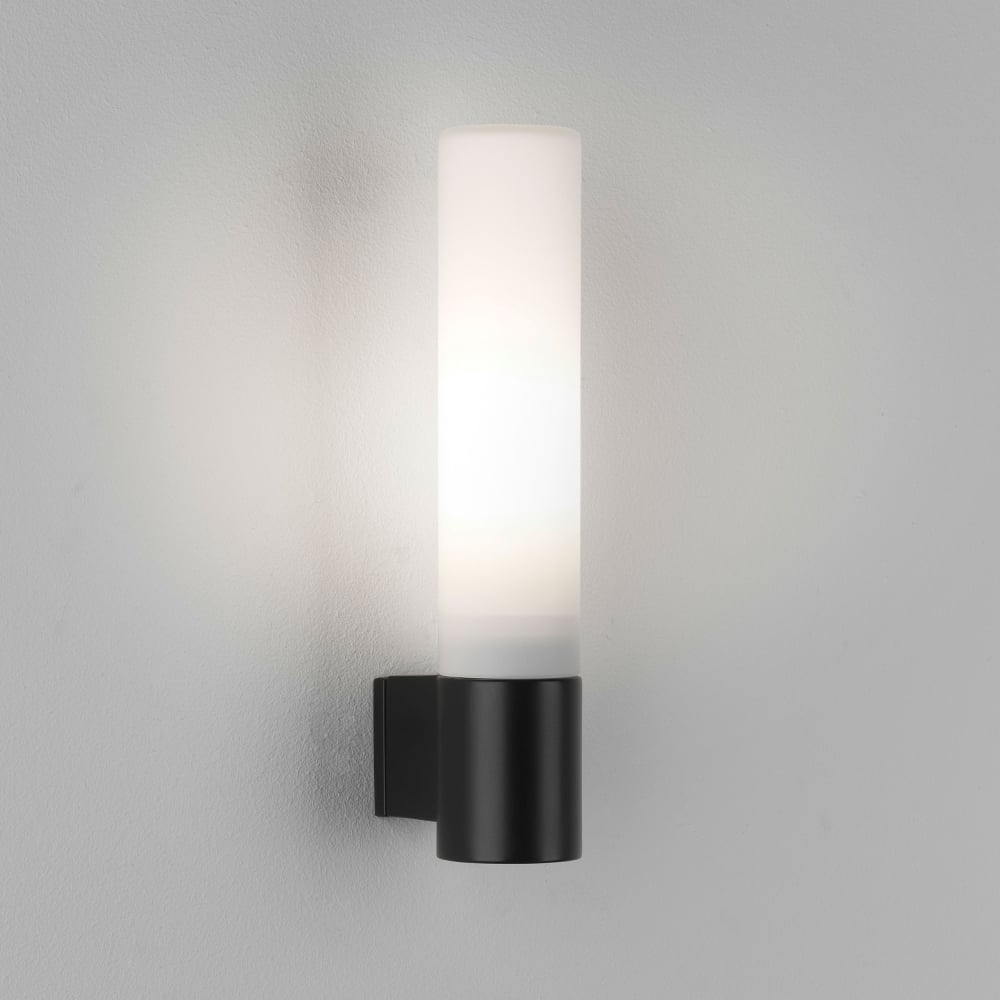 black bathroom lights astro lighting 8037 bari ip44 bathroom wall light in matt 12095
