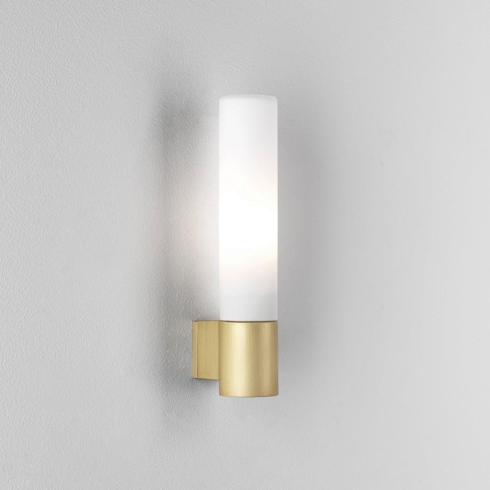 Astro lighting 8057 bari ip44 bathroom wall light in matt gold bari ip44 bathroom wall light in matt gold aloadofball Images