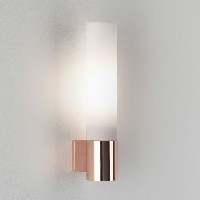 Astro Bari IP44 Bathroom Wall Light in Polished Copper