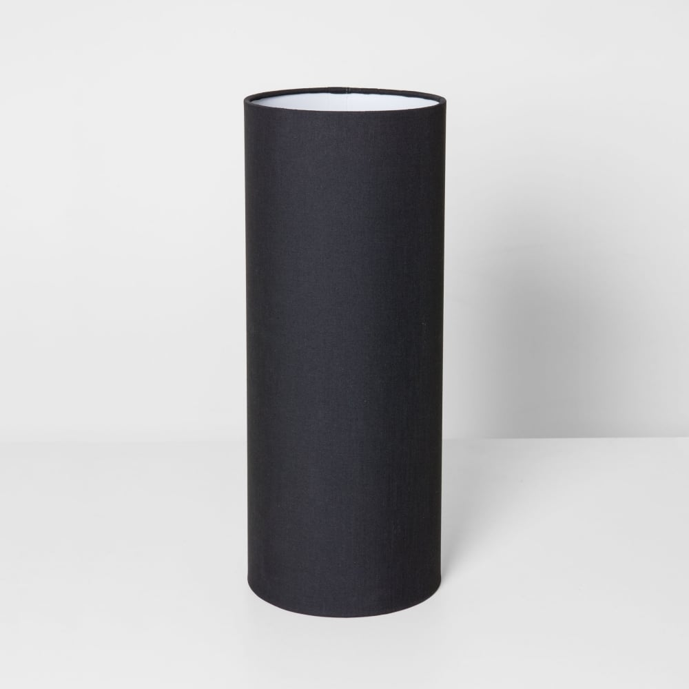 Black Fabric Tube Shade