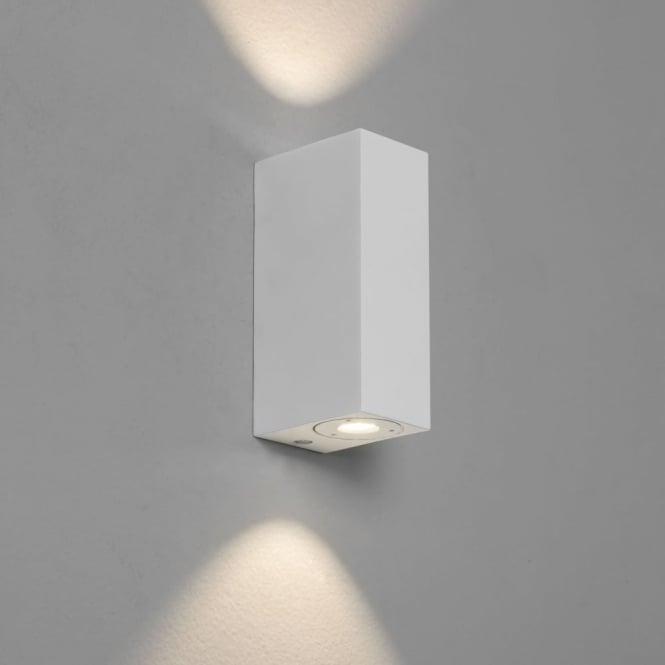 Astro Bloc LED Wall Light in White