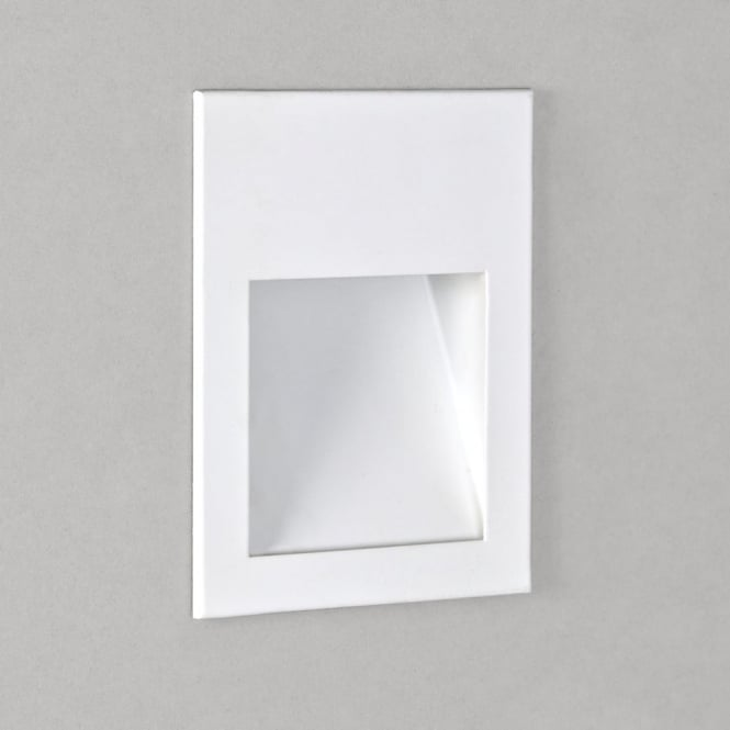Astro Borgo 90 White LED Recessed Wall or Plinth Light