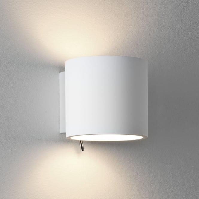 Astro Brenta Switched Wall Light in White Plaster