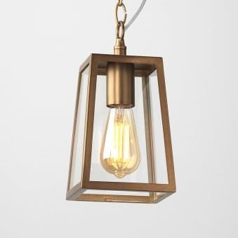 Calvi 215 Outdoor Pendant Light in Antique Brass