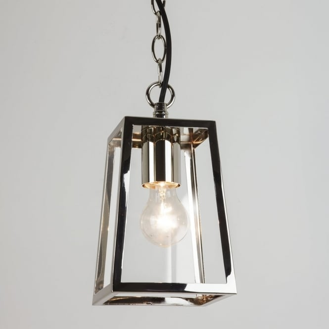 Astro Calvi Outdoor Pendant Light in Polished Nickel