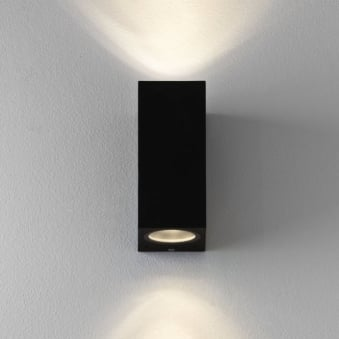 Chios 150 Exterior Up and Down Wall Light in Black