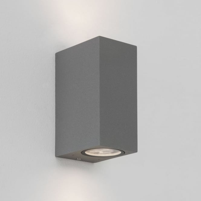 Astro Chios 150 IP44 Exterior Up and Down Wall Light in Silver