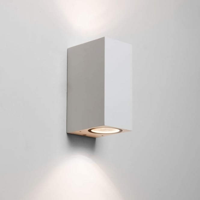 Exterior Wall Lights White : Astro Lighting 7565 Chios 150 White Exterior Up and Down Wall Light