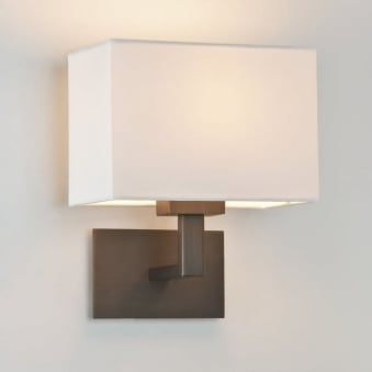 Connaught Wall Light in Bronze with Off White Shade