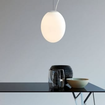 Cortona 240 White Glass Pendant Light