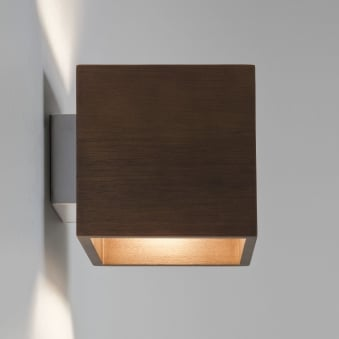 Cremona Up and Down Wall Light in Walnut