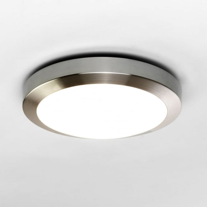 Astro Dakota 300 IP44 Brushed Nickel Ceiling Light