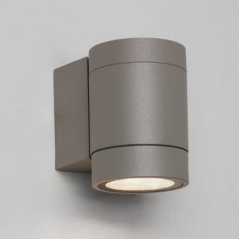 Dartmouth Single LED IP54 Exterior Wall Light in Silver