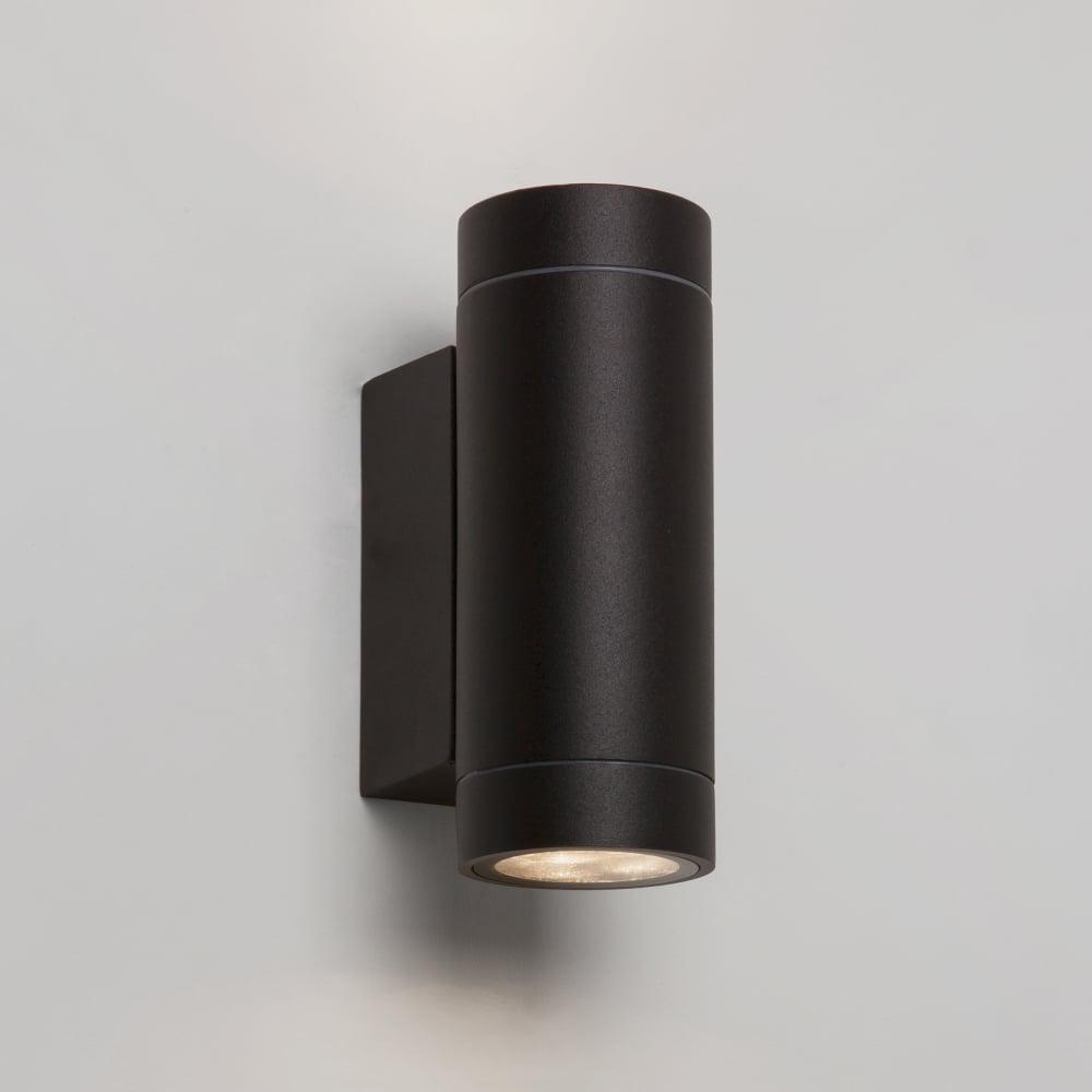 Twin External Wall Lights : Astro Lighting 7586 Dartmouth Twin LED IP54 Exterior Wall Light Black
