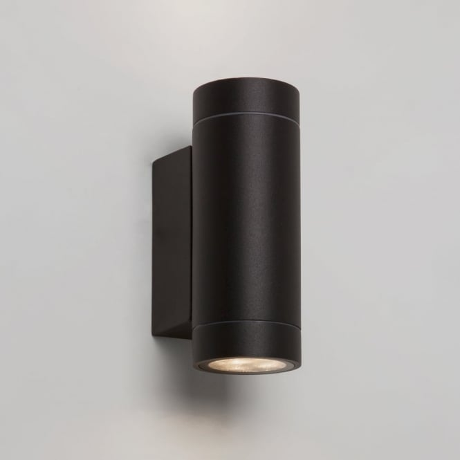 Astro Dartmouth Twin LED IP54 Exterior Wall Light in Black