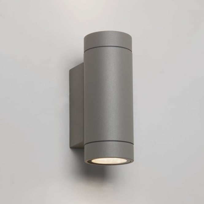 Astro Dartmouth Twin LED IP54 Exterior Wall Light in Silver