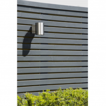 Detroit Single IP44 Exterior Wall Light in Brushed Stainless Steel