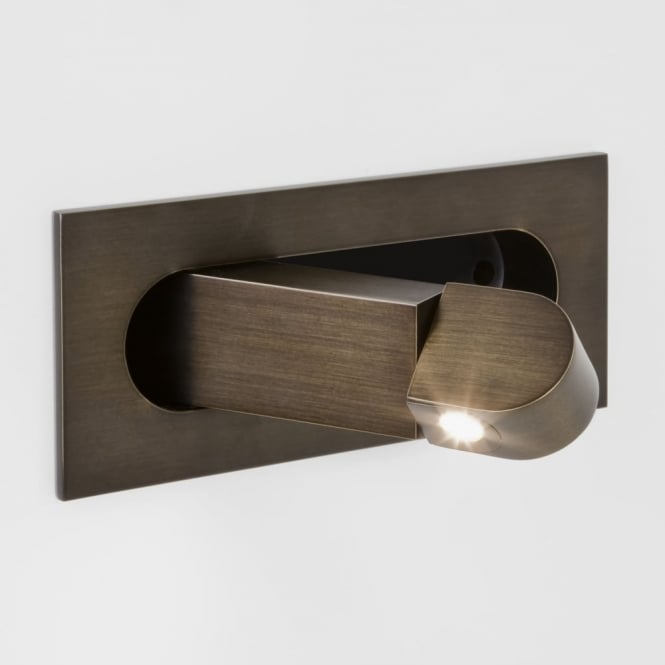 Astro Digit Switched LED Reading Wall Light in Bronze