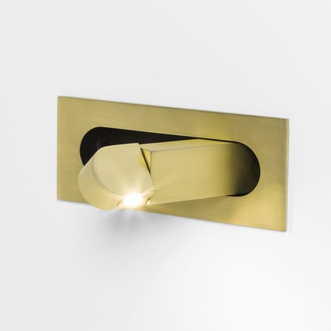 Astro Digit Switched LED Wall Light in Matt Gold