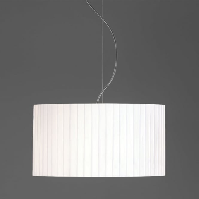 Astro Drum 400 Pleated Fabric Pendant Shade in White