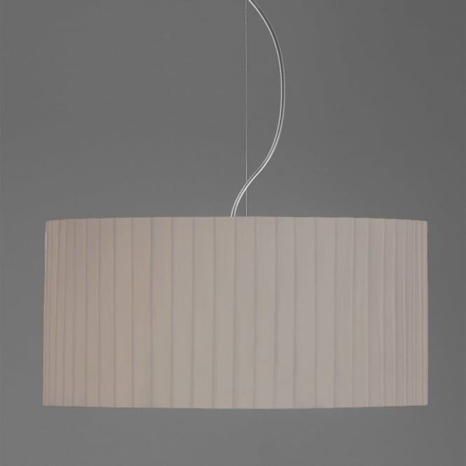 Astro Drum 500 Pleated Fabric Pendant Shade in Putty